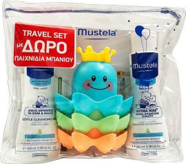 Mustela Travel Set Gentle Cleansing Gel 100ml & Hydra-Bebe Body Lotion 100ml & Δώρο Παιχνίδια Μπάνιου