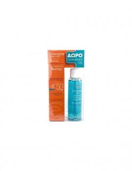 Avene Promo Cleanance Solaire SPF50+ 50ml + Gel Nettoyante 100ml