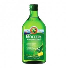 MOLLERS Cod Liver Oil , Μουρουνέλαιο με Γεύση Λεμόνι 250ml