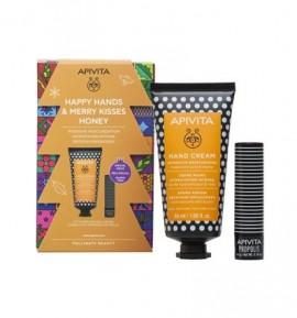 Apivita Promo Happy Hands & Merry Kisses Honey Επανόρθωση & Προστασία
