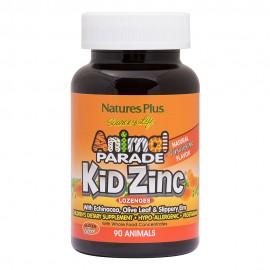 NaturesPlus Animal Parade Kid Zinc 90 παστίλιες Μανταρίνι