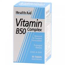 Health Aid Vitamin B50 Complex 30tablets