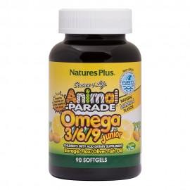 NaturesPlus Animal Parade Omega 3/6/9 Junior 90 Softgels