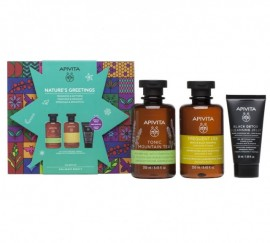 Apivita Promo Natures Greeting Tonic Mountain Tea Αφρόλουτρο 250ml & Gentle Daily Shampoo 250ml & Black Detox Jelly 50ml