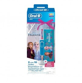 Oral-B Stages Power, Παιδική Ηλεκτρική Οδοντόβουρτσα Frozen 3 Ετών+ & Δώρο Θήκη Ταξιδιού