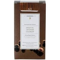 Korres Βαφή Argan Oil Advanced Colorant 6.3 Ξανθό Σκούρο Χρυσό Μελί