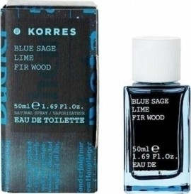 Korres Ανδρικό Άρωμα Blue Sage - Lime - Fir Wood Eau de Toilette 50ml