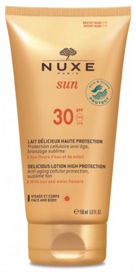 Nuxe Sun Αντηλιακό Γαλάκτωμα Προσώπου & Σώματος SPF30 150ml
