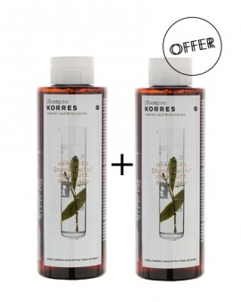Korres Σαμπουάν Δάφνη & Echinacea 1+1 250ml+250ml