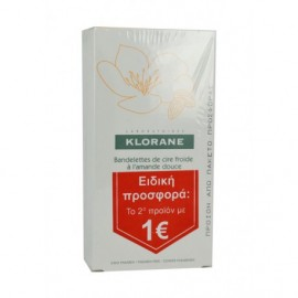Klorane Hair Removal Cold Wax Small Strips With Sweet Almond 2 x 6τμχ
