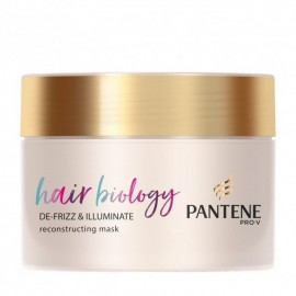 Pantene Hair Biology De Frizz & Illuminate Reconstructing Mask 160ml