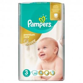 Pampers Premium Care No3 (6-10kg) 60πάνες