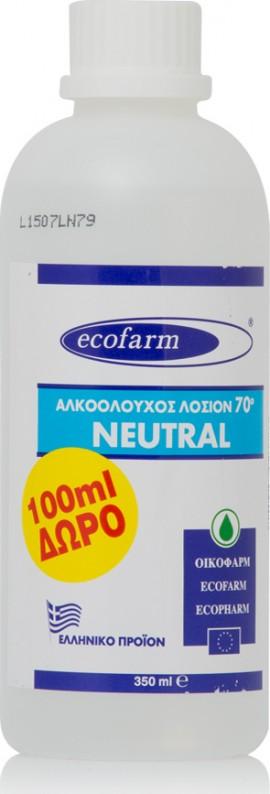 Ecofarm Αλκοολούχος Λοσιόν 70˚ Neutral 350ml