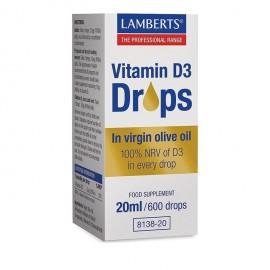 Lamberts Vitamin D3 Drops 20ml / 600 σταγόνες
