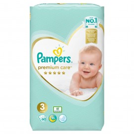 Pampers Premium Care No3 (6-10kg) 60πάνες