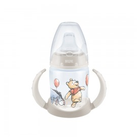 Nuk First Choice Ποτήρι με Λαβές 6-18m με Ρύγχος Σιλικόνης Disney Winnie Grey (10.743.828) 150ml