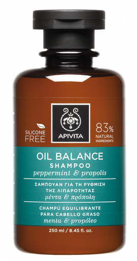Apivita Oil Balance Shampoo with Peppermint & Propolis 250ml