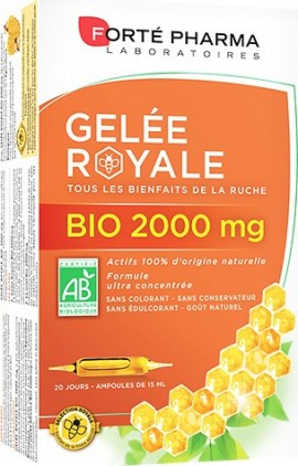 Forté Pharma Organic Royal Jelly 2000mg 20 Αμπούλες x 15ml