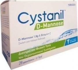 Cystanil D-Mannose Σκόνη για Πόσιμο Διάλυμα 28 x 3,17gr
