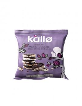 KALLO Μίνι Ρυζογκοφρέτες με Βέλγικη Σοκολάτα (40γρ)