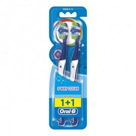 Oral-B Complete Clean 5 Way 1+1 40 Medium Οδοντόβουρτσα, 2 τεμάχια Μπλε
