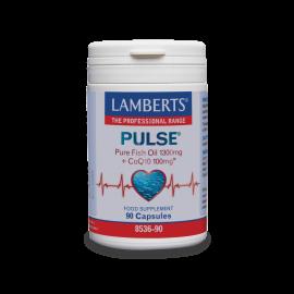 Lamberts Pulse Pure Fish Oil 1300mg & CoQ10 100mg 90caps