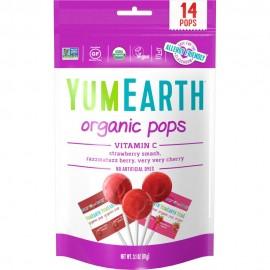 Yumearth Organic Pops Vitamin C Βιολογικά Γλειφιτζούρια Φρούτων με Βιταμίνη C 14 τμχ (85gr)