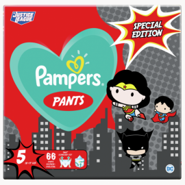 Pampers Pants WB Special Edition Justice League Πάνες Μέγεθος 5 (12-17kg) 66τεμ