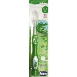 Chicco Παιδική Οδοντόβουρτσα 3-6 ετών Πράσινο