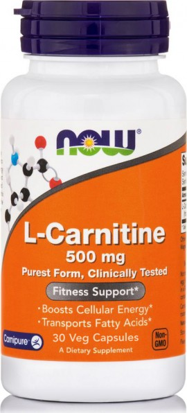 Now L-Carnitine 500mg 30caps