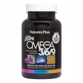 Natures Plus Ultra Omega 3/6/9 60 μαλακές κάψουλες