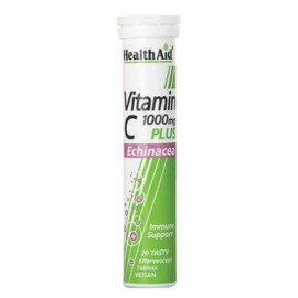 Health Aid Vitamin C 1000mg Plus Echinacea 20 eff.tab.