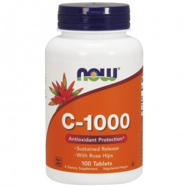 Now C-1000mg with RoseHips Βραδείας Αποδέσμευσης 100 ταμπλέτες