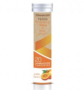 Genecom Terra Vitamin C 1000mg + Zinc, Orange 20eff.tabs