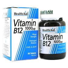 Health Aid Vitamin B12 1000μg 50tablets