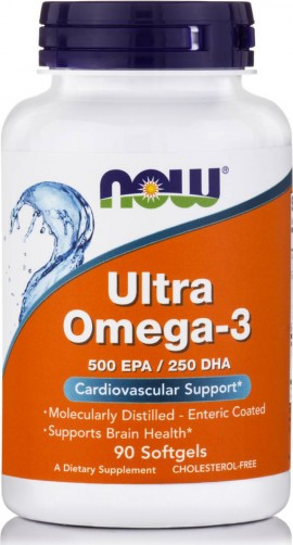 Now Ultra Omega-3 Fish Oil 90 μαλακές κάψουλες