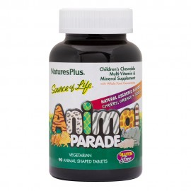 NaturesPlus Animal Parade Chewables 90 Assorted Flavor μασώμενες ταμπλέτες
