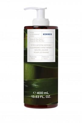 Korres Υγρό Σαπούνι Χεριών Αλόη & Θαλασσινό Αλάτι 400ml