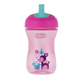Chicco Advanced Cup Easy Drinking 12m+ 2 in 1 Ροζ-Μωβ 266ml