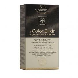Apivita My Color Elixir 5.18 Καστανό Ανοιχτό Σαντρέ Περλέ