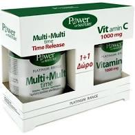 Power Health Promo Platinum Multi + Multi Time 30tabs + Δώρο Platinum Range VitC 1000mg 20tabs