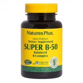 NaturesPlus Super B-50 60 φυτικές κάψουλες