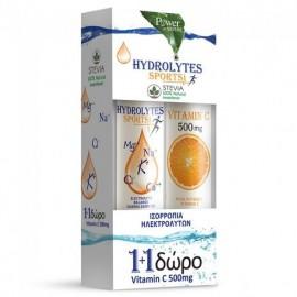 Power Health 1+1 Hydrolytes Sports with Stevia 20eff.tabs & Vitamin C 500mg 20eff.tabs