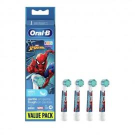 Oral-B Kids Ανταλλακτικά Spiderman 3+ Extra Soft 4 τεμάχια