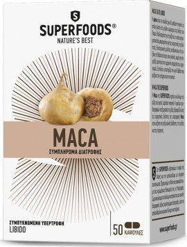 Superfoods Maca 3000mg 50 Kάψουλες