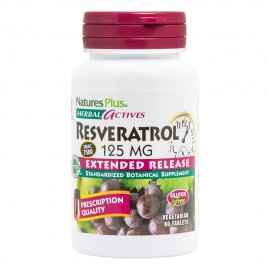 NaturesPlus Herbal Actives Resveratrol 125 mg 60 Extended Release Tablets