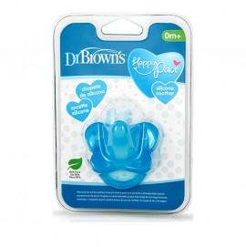 Dr. Browns Πιπίλα Σιλικόνης Μπλέ 0-6M