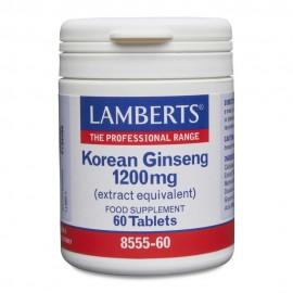 Lamberts Korean Ginseng 1200mg Τζίνσεγκ 60 Ταμπλέτες