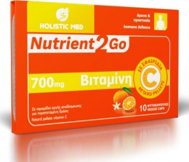 Holistic Med Nutrient2Go Vitamin C 700mg 10 φυτικές κάψουλες