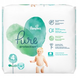 Pampers Pure Protection Μέγεθος 4 (9-14kg) 28 Πάνες